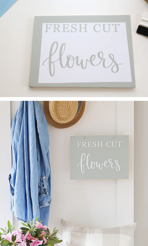 spring wood sign DIY pinnable graphic