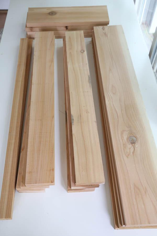 cedar wood cut to size