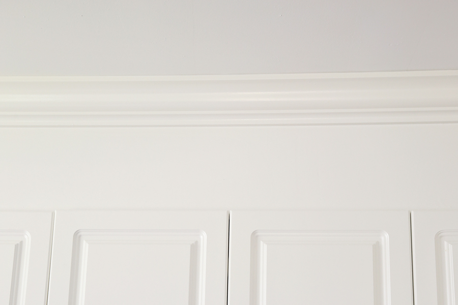 How to Enclose Space Above Kitchen Cabinets with plywood and crown molding