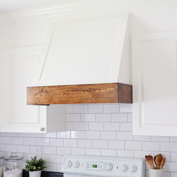 DIY range hood cover