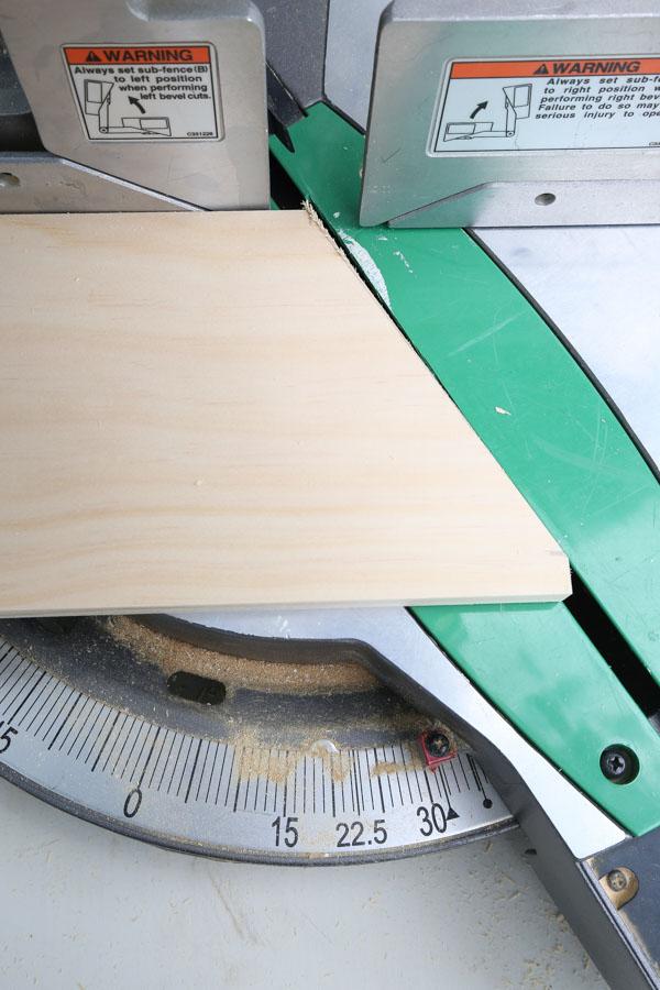 cut the desk organizer side board at an angle