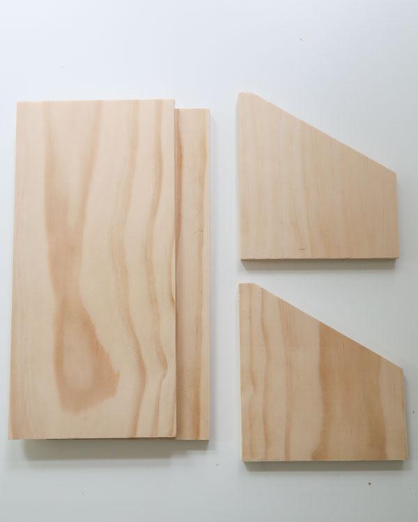 1x6 lumber cuts for desk organizer
