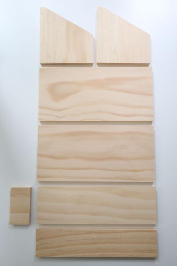 make lumber cuts for DIY desk organizer