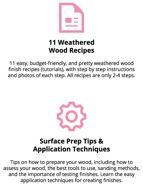 what's included in weathered wood recipes