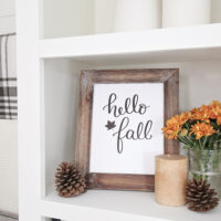 hello fall free fall printable