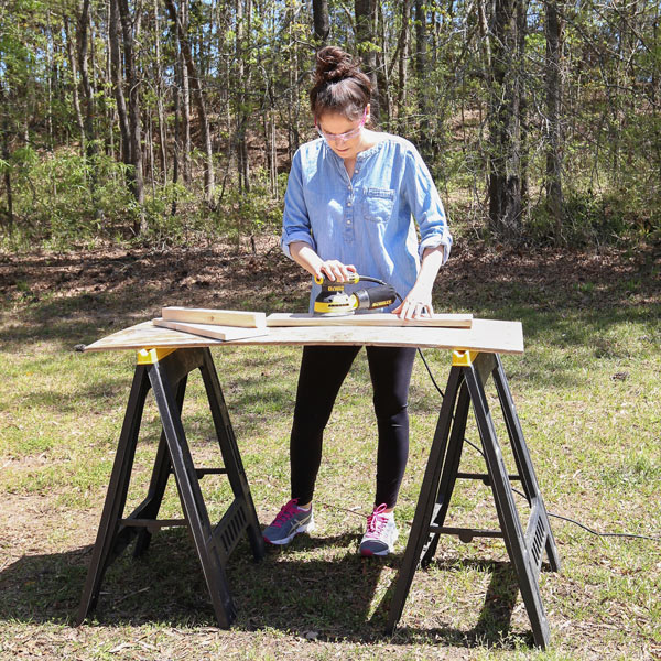 how to prep wood for stain and sand the wood well