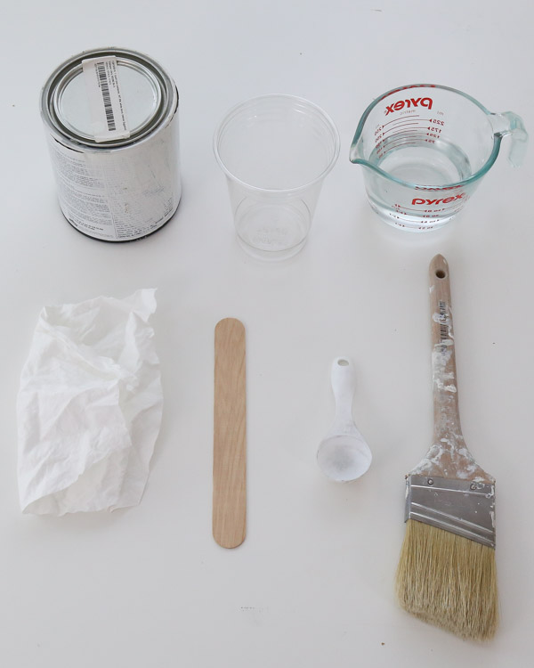 materials needed for how to make whitewash paint