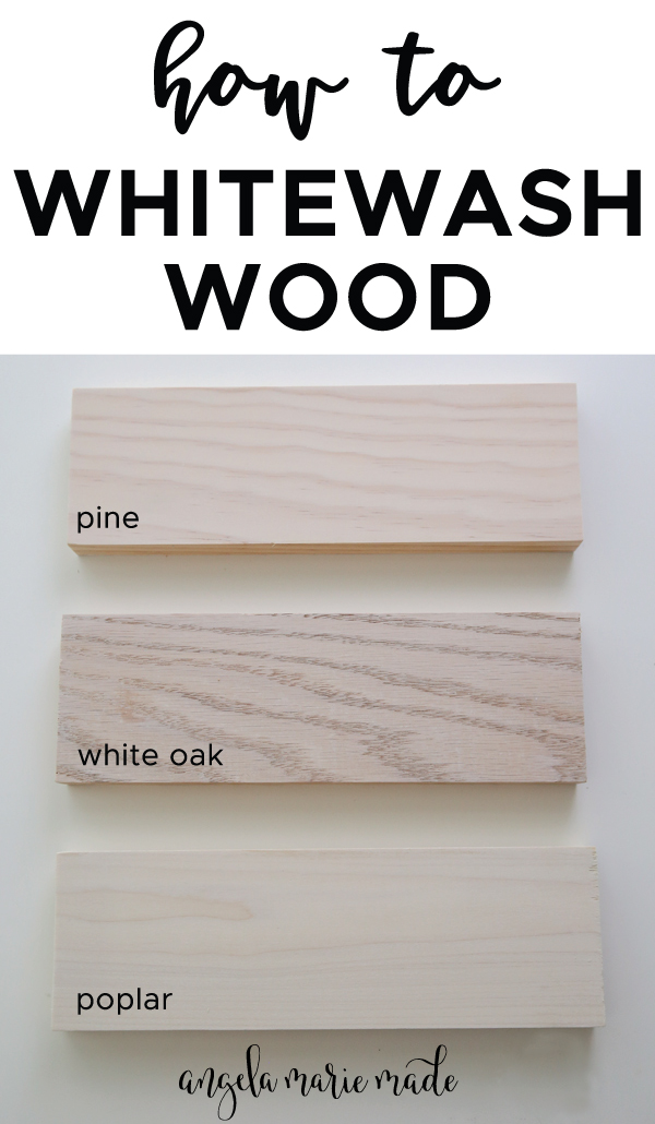 how to whitewash wood with whitewash paint on pine, oak, and poplar wood