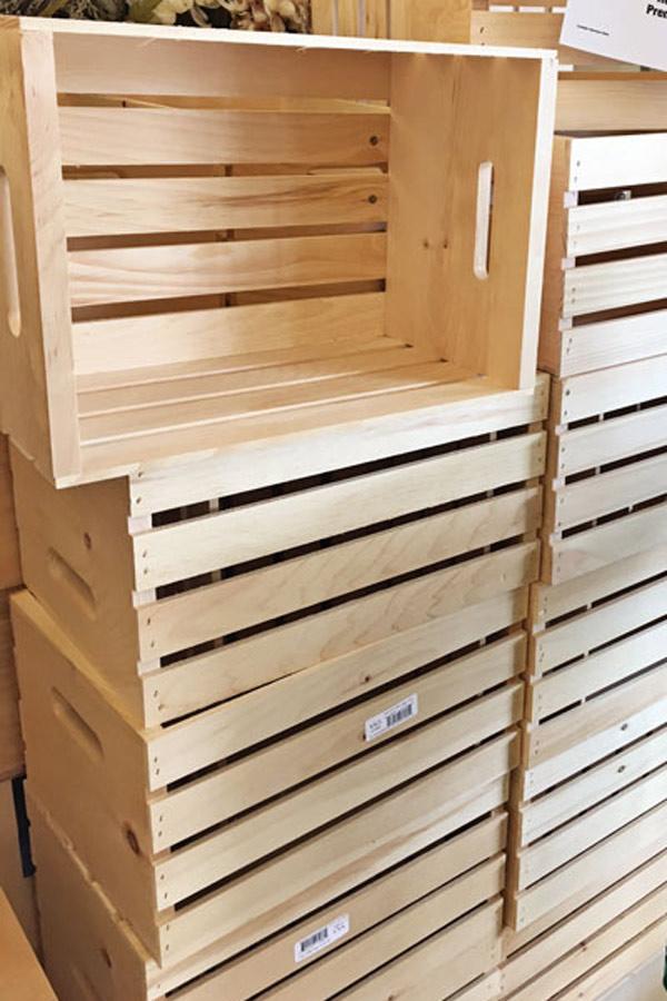 unfinished crates before whitewashing