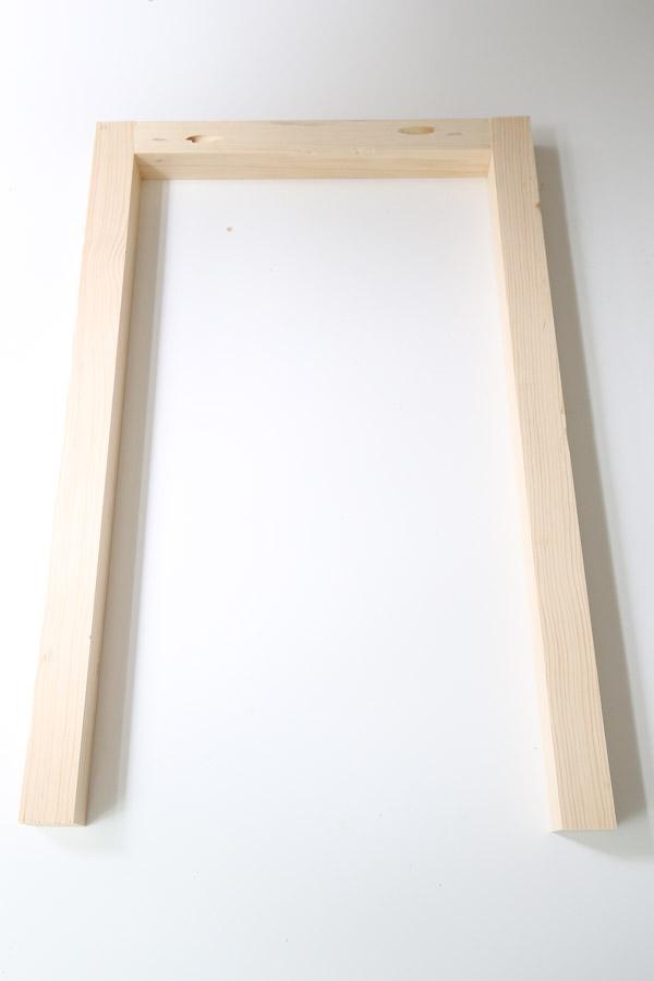 assembling side frame of nightstand