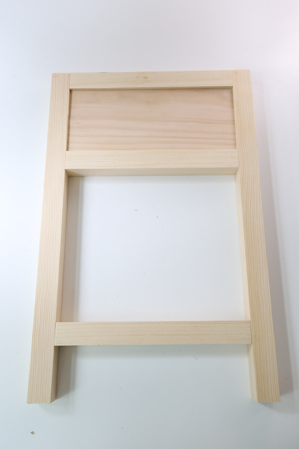 one assembled side frame of nightstand