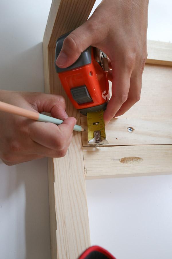 mark line for installing drawer slides