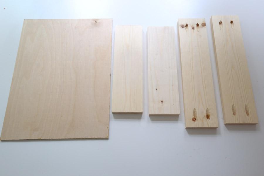 cut lumber for drawer box