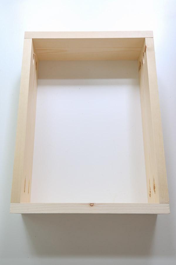drawer box sides assembled