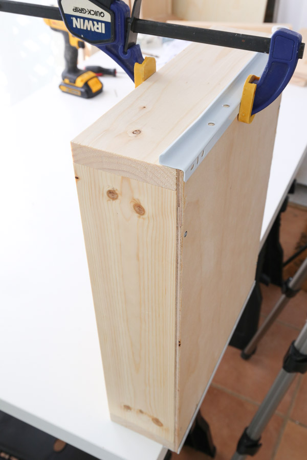 attaching drawer slide to drawer box with a drill