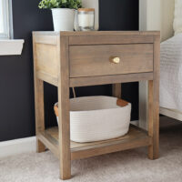 DIY nighstand with drawer