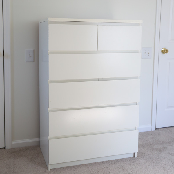 old ikea malm dresser BEFORE makeover