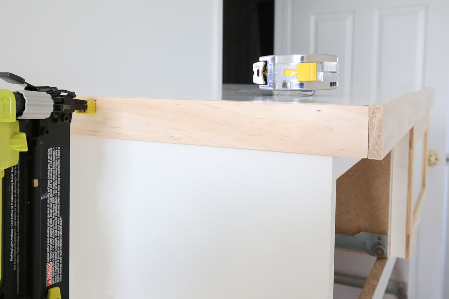 add trim to top of ikea dresser