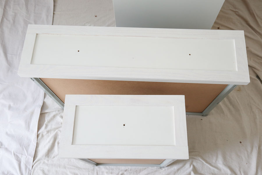 drilling holes for ikea dresser hack