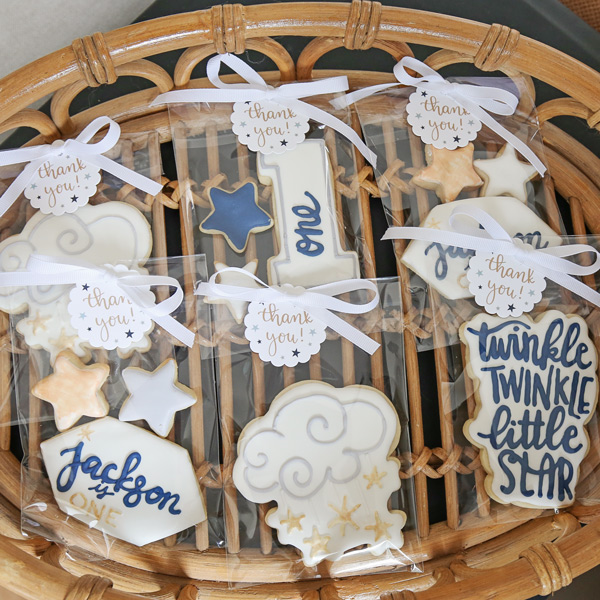 twinkle twinkle little star 1st birthday party cookie party favors