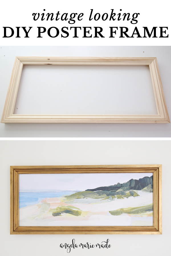 Vintage looking DIY poster frame
