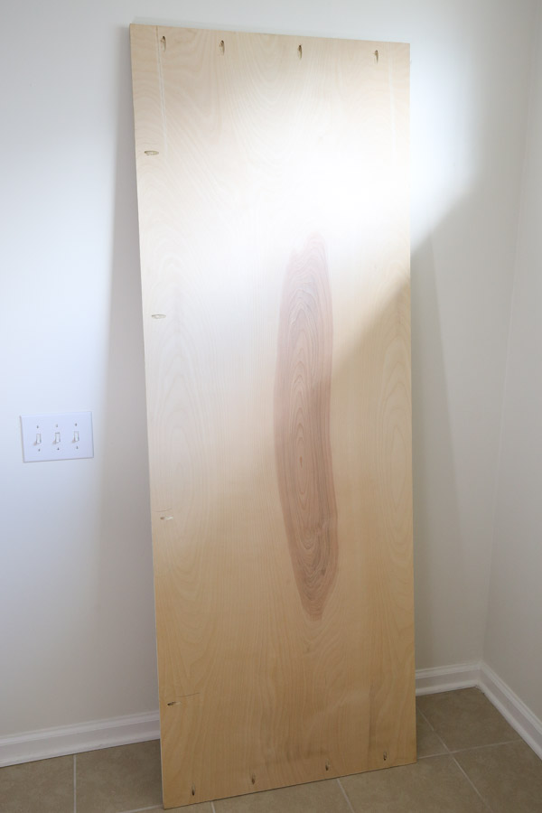 plywood with pocket holes for headboard