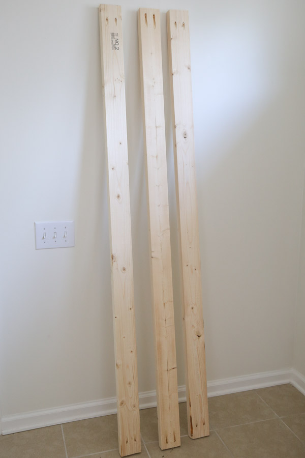2x4s for headboard frame and supports with pocket holes