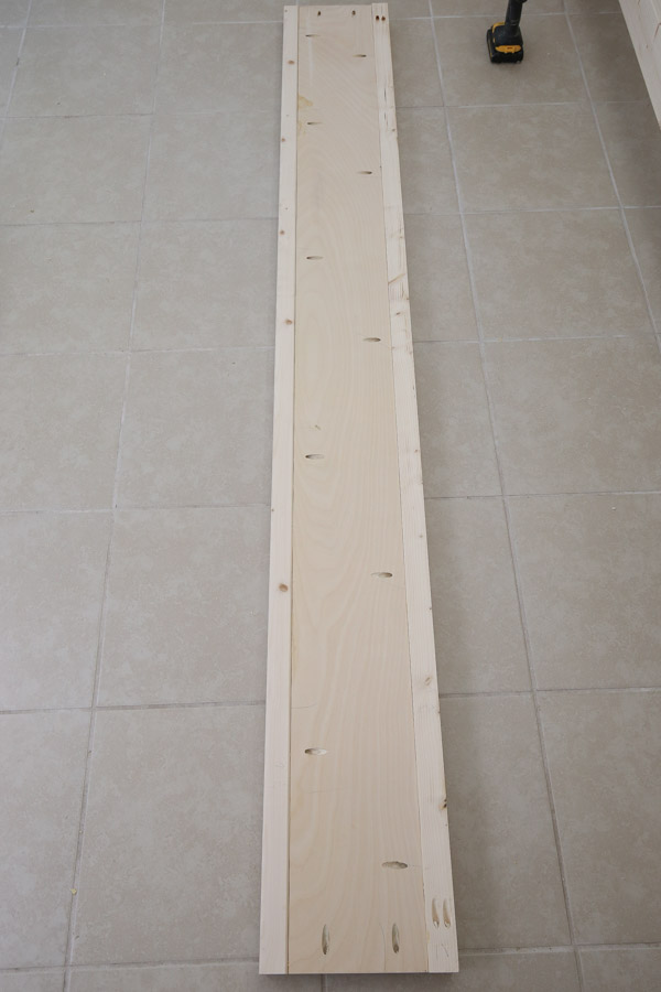 assembling side rails for DIY king bed frame