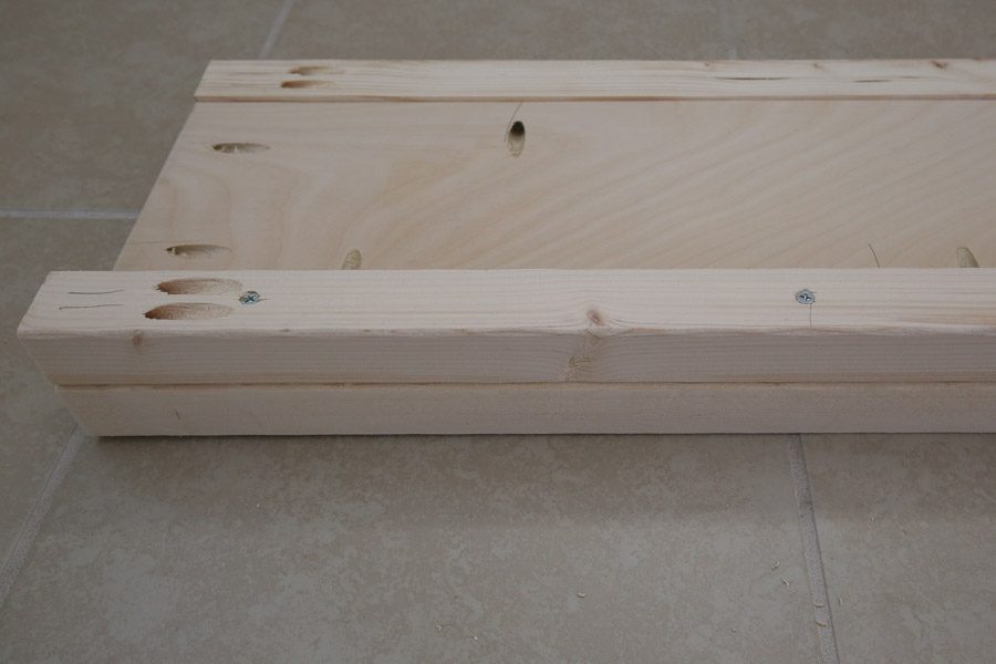 attaching wood slats using 2x2s on side rails