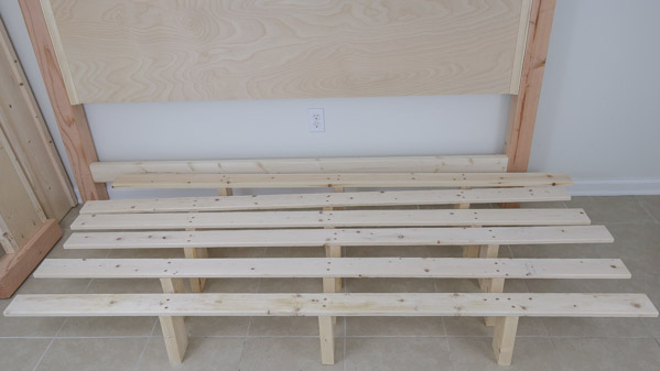 middle slat support boards for diy king bed