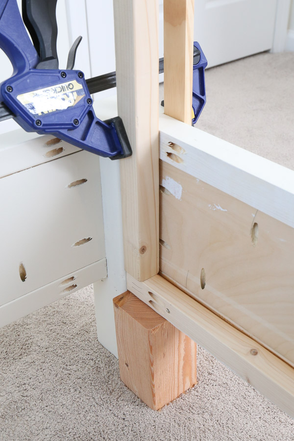 attaching side rails to footboard with kreg screws