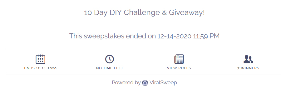 viralsweep giveaway form