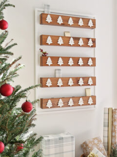 diy advent calendar wood