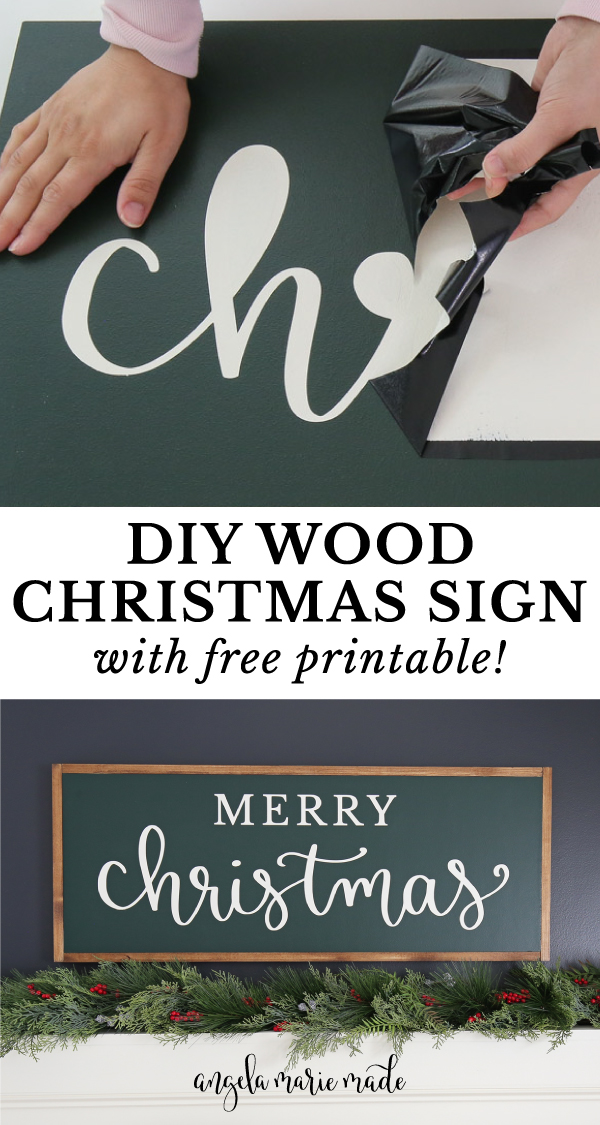 Christmas sign DIY and vinyl stencil