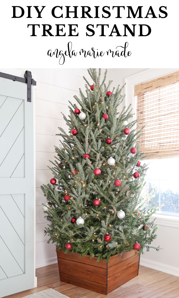 wooden DIY Christmas tree stand