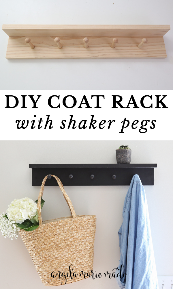 diy coat rack with wood shaker pegs