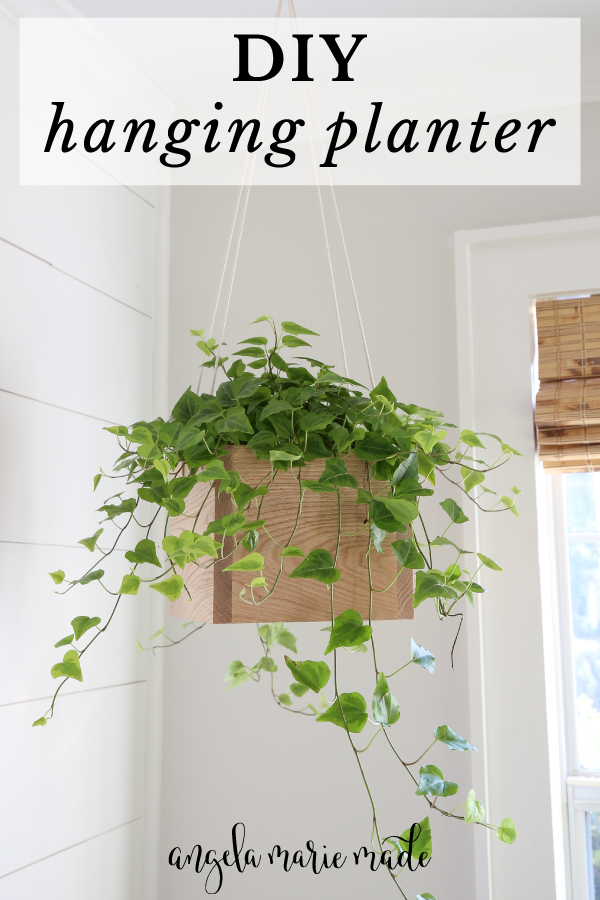 diy hanging planter with wood