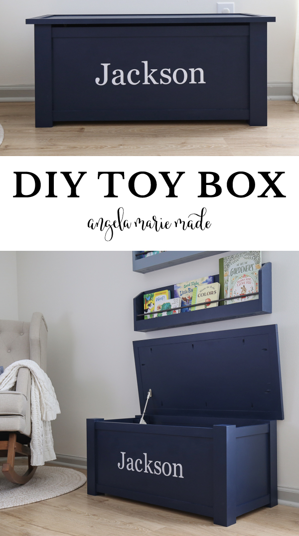 diy toy box with lid open and closed