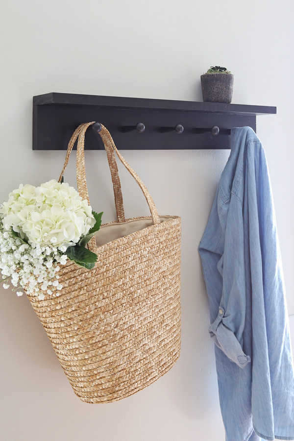 DIY coat rack with shaker pegs