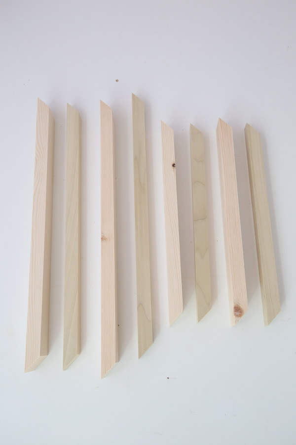 lumber cuts for serving tray sides
