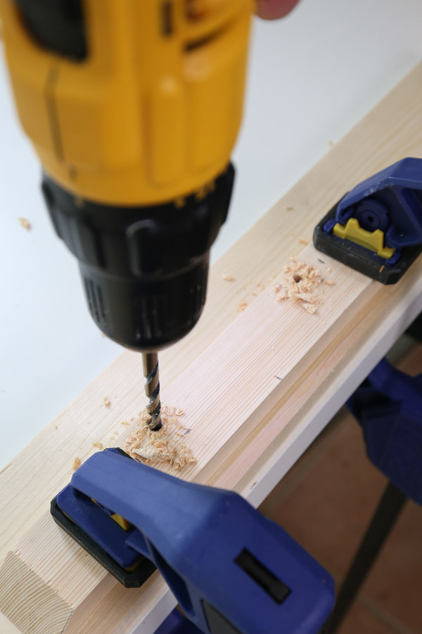 drill holes for handles