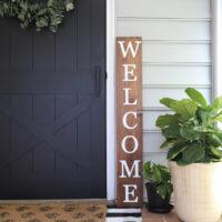 wood DIY welcome sign