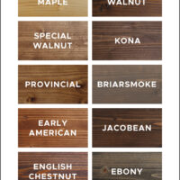 wood stain colors top 10 favorites