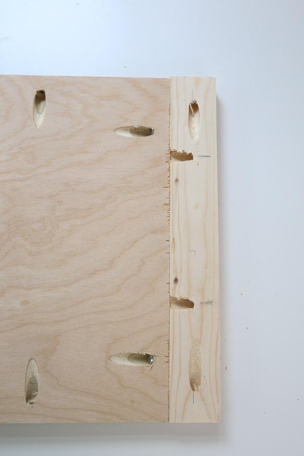 Add 1x2 trim to the sides with kreg screws