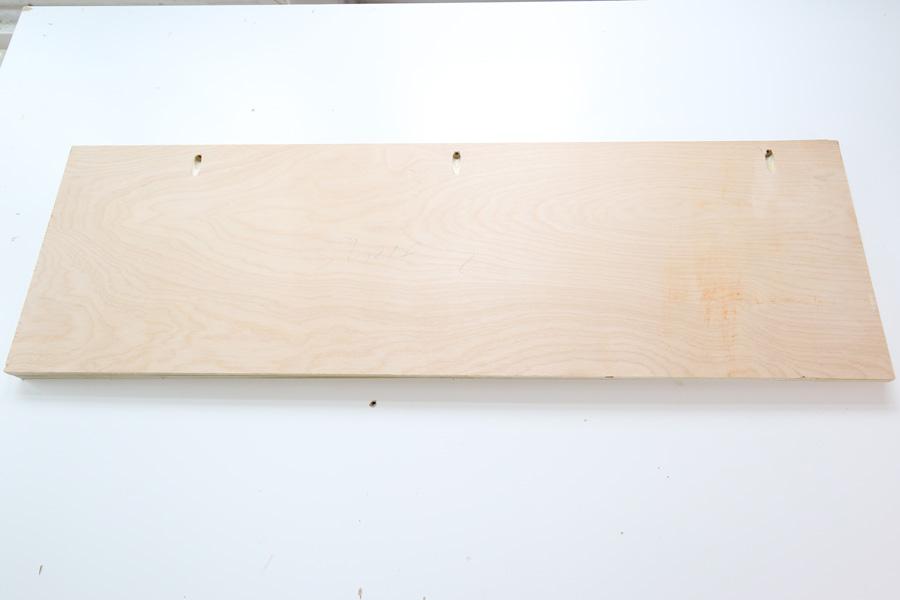add pocket holes to shelf boards