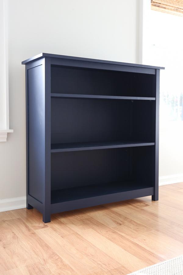 Navy blue DIY bookcase