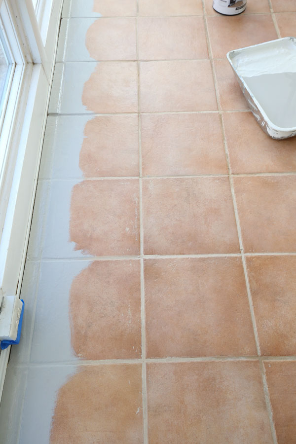 using floor tile paint to paint ceramic tile floor