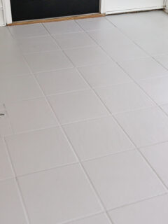 how to paint ceramic floor tile