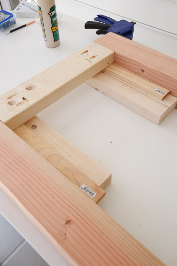 Assemble the side frames with Kreg screws