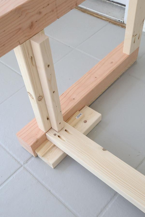 attach back frame with kreg screws